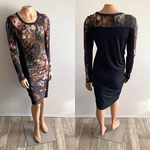 SW3 Bespoke Ruched Long Sleeve Bodycon Dress
